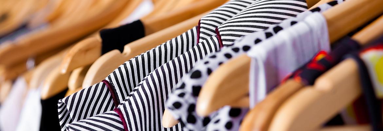 Multi-coloured wardrobe showcase, for sale, closeup view
