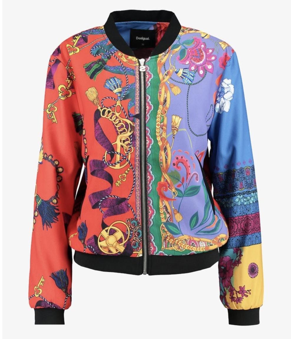 Desigual multicolour bomber jacket