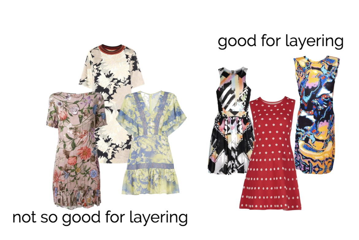 A collage of different summer dresses