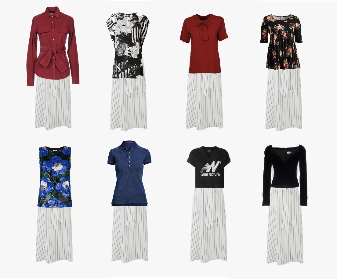 A light dress for dark winter, combinations