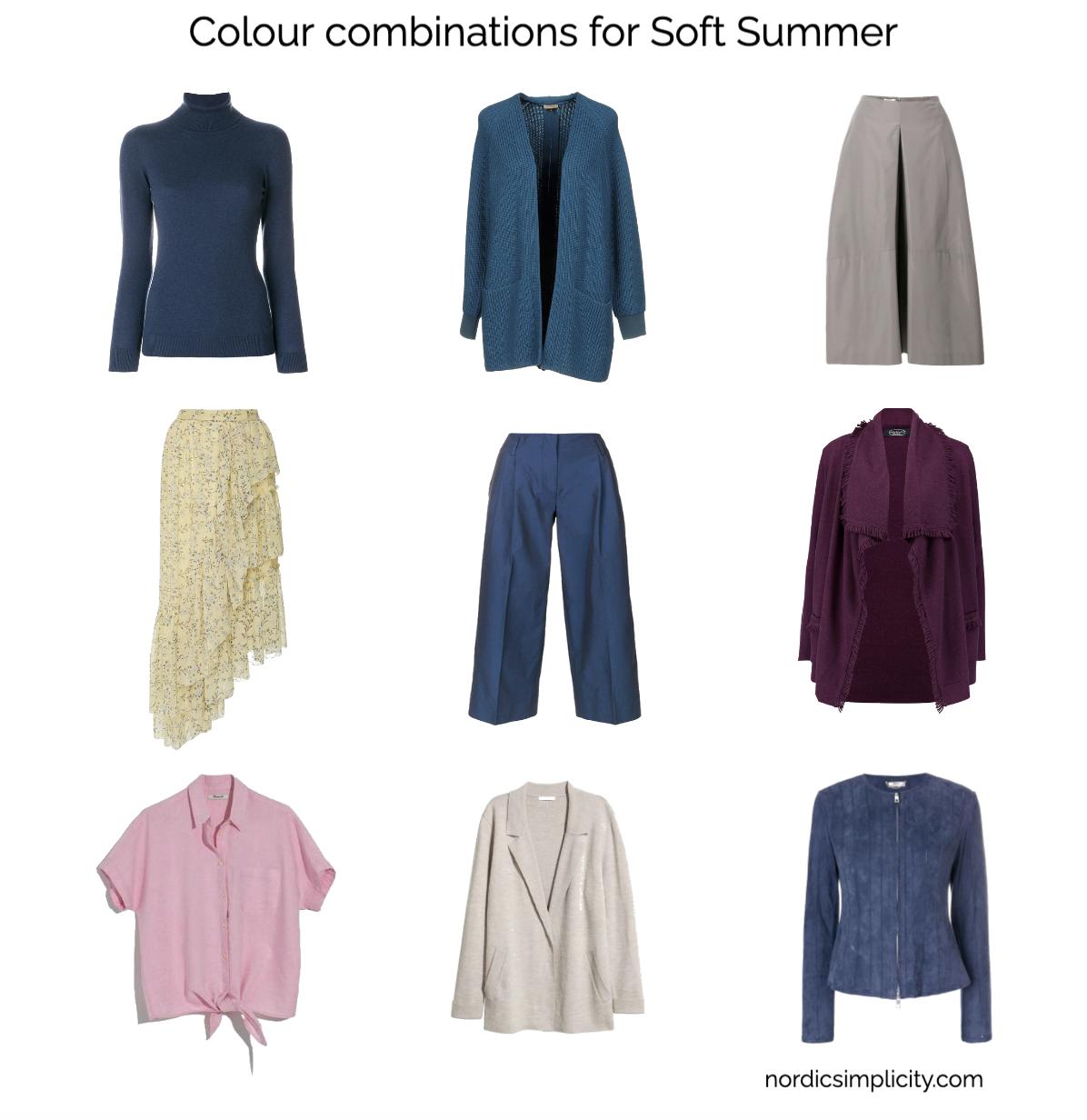 Soft Summer nine items seven colours