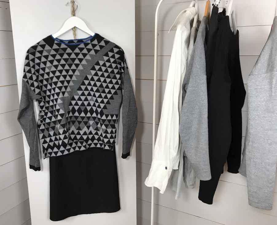 Nordic Simplicity capsule wardrobe, mileage items