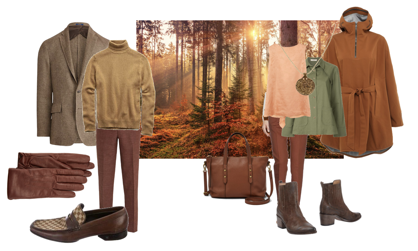 True Autumn landscape and outfits