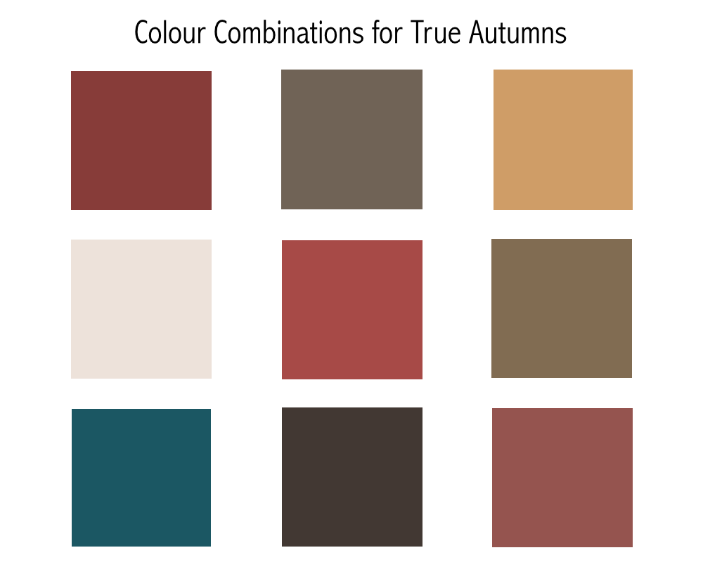 True Autumn grid created by Christine Scaman of 12 BLUEPRINTS
