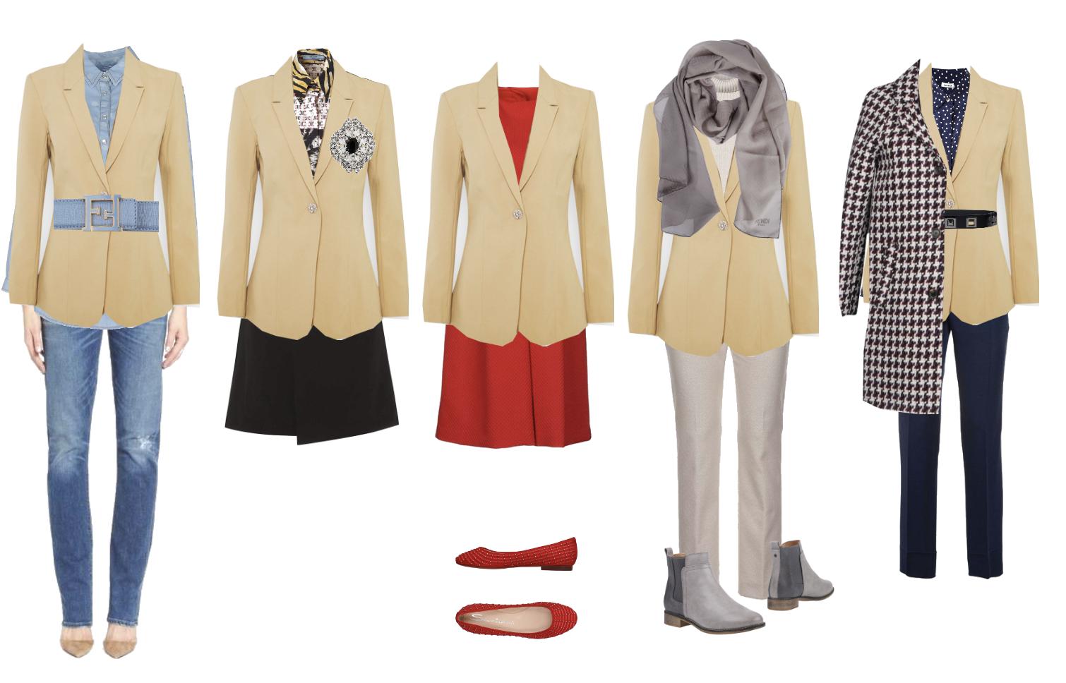 Blazer styled five ways