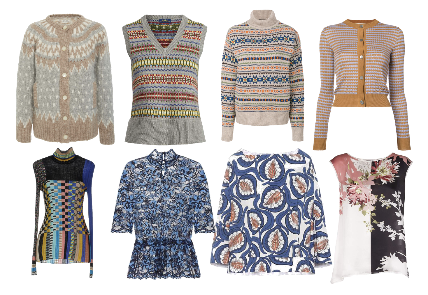 Knits and prints for Soft Autumn